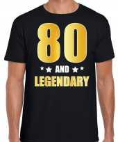 And legendary verjaardag cadeau goud jaar zwart heren t-shirt 10232790