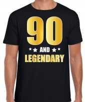 And legendary verjaardag cadeau goud jaar zwart heren t-shirt 10232800
