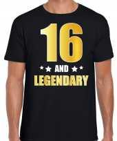 And legendary verjaardag cadeau goud jaar zwart heren t-shirt