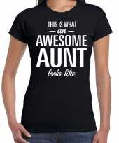 Awesome aunt tante cadeau zwart dames t-shirt