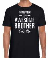 Awesome brother tekst zwart heren t-shirt