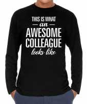 Awesome colleague collega cadeau long sleeves heren t-shirt