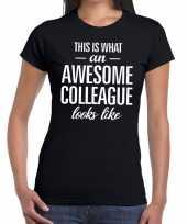 Awesome colleague tekst zwart dames t-shirt