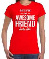 Awesome friend cadeau rood dames t-shirt
