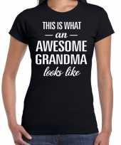Awesome grandma oma cadeau zwart dames t-shirt