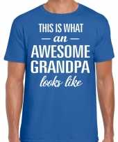 Awesome grandpa opa cadeau blauw heren vaderdag t-shirt