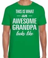Awesome grandpa opa cadeau groen heren vaderdag t-shirt