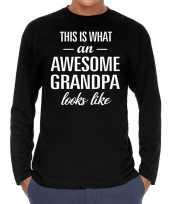 Awesome grandpa opa cadeau long sleeves heren t-shirt
