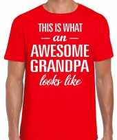 Awesome grandpa opa cadeau rood heren vaderdag t-shirt