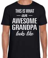 Awesome grandpa opa cadeau zwart heren vaderdag t-shirt