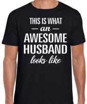 Awesome husband echtgenoot cadeau zwart heren t-shirt