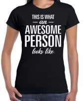 Awesome person persoon cadeau zwart dames t shirt