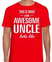 Awesome uncle oom cadeau rood heren t-shirt