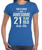 Awesome year jaar cadeau blauw dames t-shirt 10200300