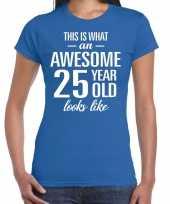 Awesome year jaar cadeau blauw dames t-shirt 10200317