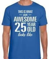 Awesome year jaar cadeau blauw heren t-shirt 10199979