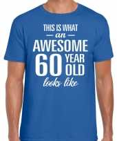 Awesome year jaar cadeau blauw heren t-shirt 10200035