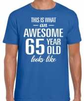 Awesome year jaar cadeau blauw heren t-shirt 10200049