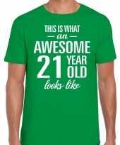Awesome year jaar cadeau groen heren t-shirt 10199971