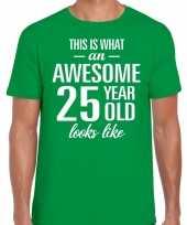Awesome year jaar cadeau groen heren t-shirt 10199981