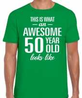 Awesome year jaar cadeau groen heren t-shirt 10200024