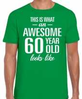 Awesome year jaar cadeau groen heren t-shirt 10200038