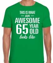 Awesome year jaar cadeau groen heren t-shirt 10200050