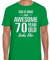 Awesome year jaar cadeau groen heren t-shirt 10200062