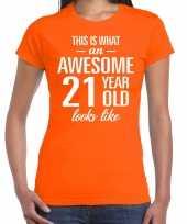 Awesome year jaar cadeau oranje dames t-shirt 10200309