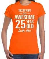 Awesome year jaar cadeau oranje dames t-shirt 10200322