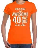 Awesome year jaar cadeau oranje dames t-shirt 10200333
