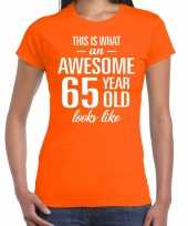 Awesome year jaar cadeau oranje dames t-shirt 10200360