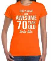 Awesome year jaar cadeau oranje dames t-shirt 10200370