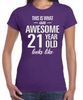 Awesome year jaar cadeau paars dames t-shirt 10200303
