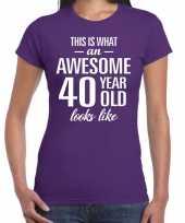 Awesome year jaar cadeau paars dames t-shirt 10200331