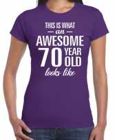 Awesome year jaar cadeau paars dames t-shirt 10200366