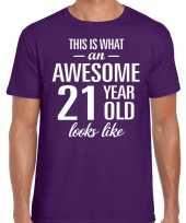 Awesome year jaar cadeau paars heren t-shirt 10199974