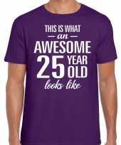 Awesome year jaar cadeau paars heren t-shirt 10199986