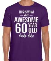 Awesome year jaar cadeau paars heren t-shirt 10200041