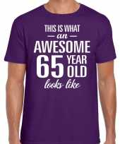 Awesome year jaar cadeau paars heren t-shirt 10200054