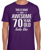 Awesome year jaar cadeau paars heren t-shirt 10200063