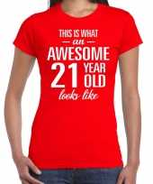Awesome year jaar cadeau rood dames t-shirt 10200307