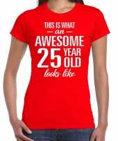Awesome year jaar cadeau rood dames t-shirt 10200320