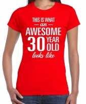 Awesome year jaar cadeau rood dames t-shirt 10200327