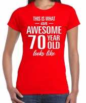 Awesome year jaar cadeau rood dames t-shirt 10200368
