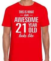 Awesome year jaar cadeau rood heren t-shirt 10199976