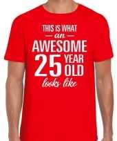 Awesome year jaar cadeau rood heren t-shirt 10199988