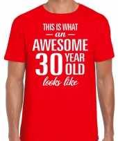 Awesome year jaar cadeau rood heren t-shirt 10200002