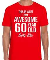 Awesome year jaar cadeau rood heren t-shirt 10200042