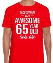 Awesome year jaar cadeau rood heren t-shirt 10200055